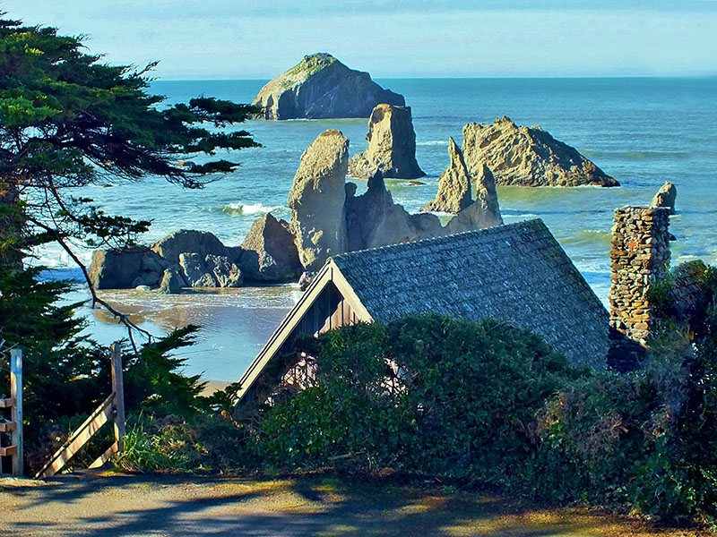 Looking Over Old Rustic To The Ocean